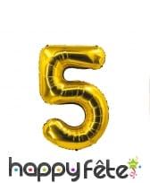 Ballon chiffre doré de 85 cm, image 6