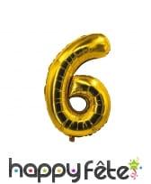 Ballon chiffre doré de 85 cm, image 7