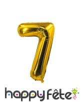 Ballon chiffre doré de 85 cm, image 8