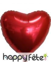 Ballon coeur de 45cm en aluminium, image 5