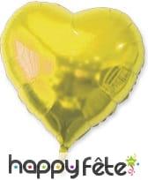 Ballon coeur doré métallisé