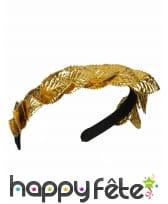 Bandeau couronne de César dorée