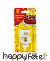 Bougie chiffre d'anniversaire avec bobèche, image 4