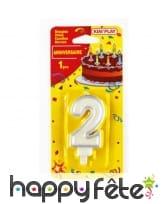 Bougie chiffre d'anniversaire avec bobèche, image 2