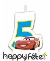 Bougie chiffre d'anniversaire Cars, image 3