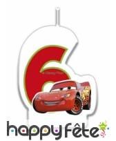 Bougie chiffre d'anniversaire Cars, image 4