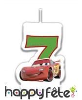 Bougie chiffre d'anniversaire Cars, image 5