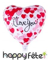 Ballon coeur I love you de 52cm