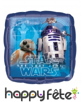 Ballon carré Le dernier Jedi de 43 cm