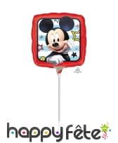 Ballon carré Mickey de 23cm