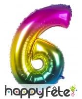 Ballon chiffre multicolore en alu de 86 cm, image 7