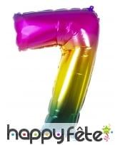 Ballon chiffre multicolore en alu de 86 cm, image 8