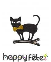 Barrette chat noir pour cheveux