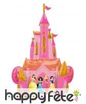 Ballon château princesses Disney recto verso