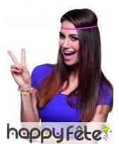 Bracelet coloré peace and love