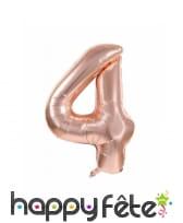 Ballon chiffre rose métallisé, 36 cm, image 5