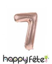Ballon chiffre rose métallisé, 36 cm, image 8