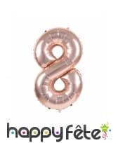 Ballon chiffre rose métallisé, 36 cm, image 9