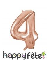 Ballon chiffre rose métallisé de 86cm, image 5