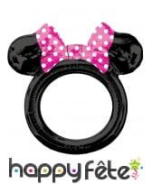 Ballon cadre tête de Minnie Mouse noir, 73 x 71cm