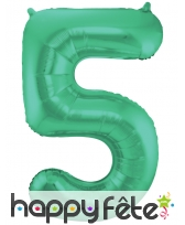Ballon chiffre vert en aluminium de 86 cm, image 6