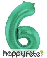 Ballon chiffre vert en aluminium de 86 cm, image 7