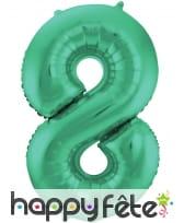 Ballon chiffre vert en aluminium de 86 cm, image 9