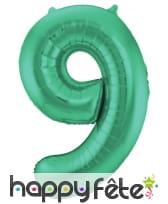 Ballon chiffre vert en aluminium de 86 cm, image 10