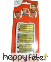 Blister de 12 crayons gras