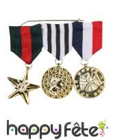 Broche de 3 médailles d'honneur en tissus