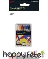 Boite de 6 crayons de maquillage