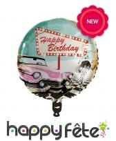 Ballon d'anniversaire Rock n roll, 45cm, image 1