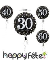 Ballon d'anniversaire VIP 30, 40, 50, 60ans