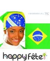 Bandana dreapeau brésil