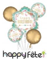 Bouquet de ballons Happy Birthday