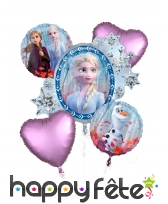 Bouquet de ballons La Reine des Neiges 2
