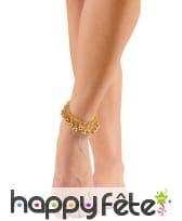 Bracelet de chevilles avec grelots dorés, image 1