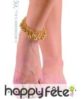 Bracelet de chevilles avec grelots dorés