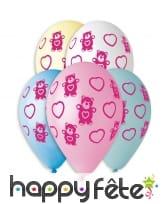 Ballons décorés de petits oursons