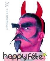 Barbichette du diable avec moustache et sourcils