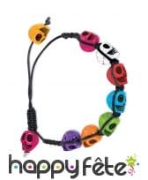 Bracelet Dia de los muertos coloré