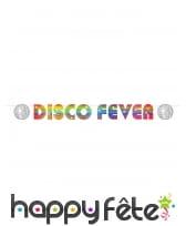 Banderole Disco Fever multicolore de 2,13 m