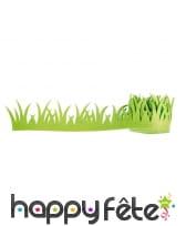 Bande d'herbe verte en feutre, 200cmx7cm
