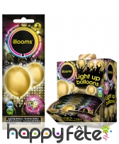 Ballon doré lumineux