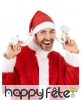 Bonnet de mère Noël avec deux tresses, image 1