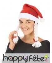 Bonnet de mère Noël avec deux tresses, image 2