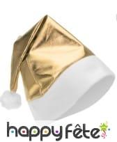 Bonnet de Noël doré métallisé