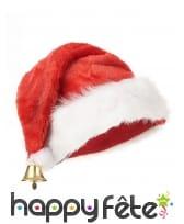 Bonnet de Noël en peluche avec clochette, image 1