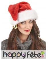 Bonnet de Noël en peluche avec clochette, image 2