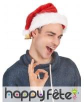 Bonnet de Noël en peluche avec clochette, image 3